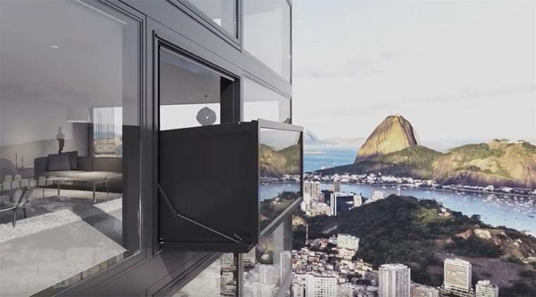 Ausfahrbarer Balkon Bloomframe