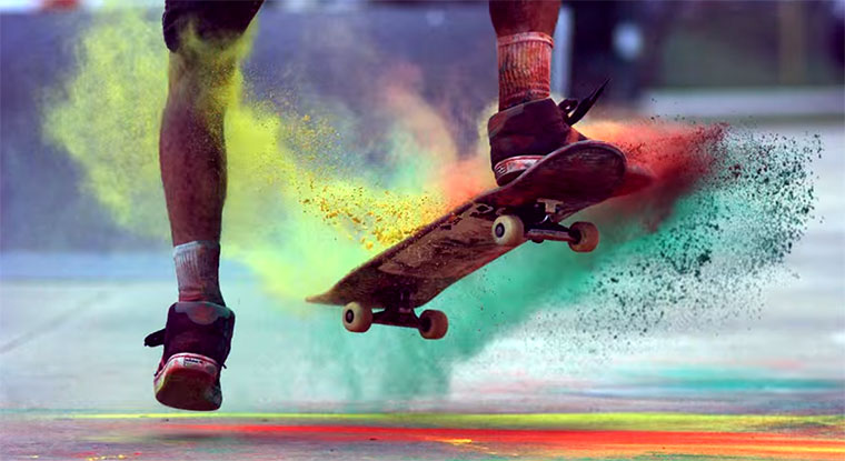Kreide + Skateboard + Slowmotion = Noch immer Awesome