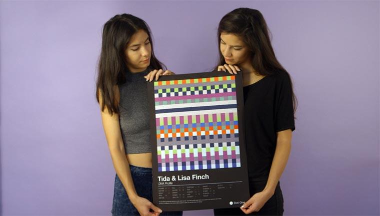 Einzigartige Schal- und Printmuster basierend auf deiner DNA Dot-One-DNA-Design