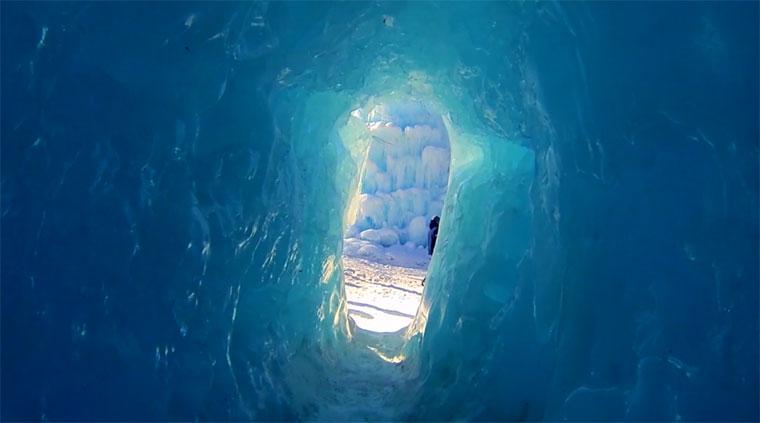 Die Schönheit von Burgen aus Eis Ice-Castles