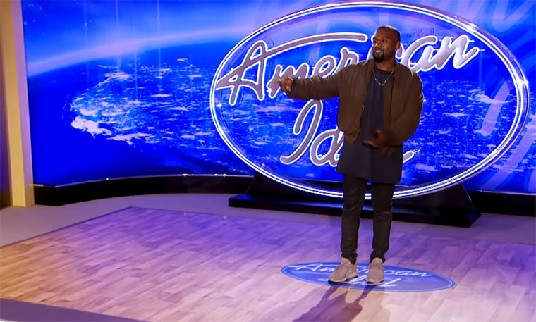 Kanye West als Kandidat bei American Idol