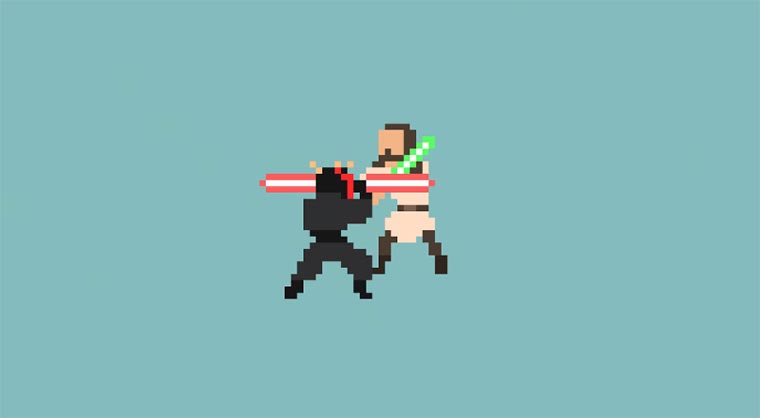 8-Bit Star Wars Death