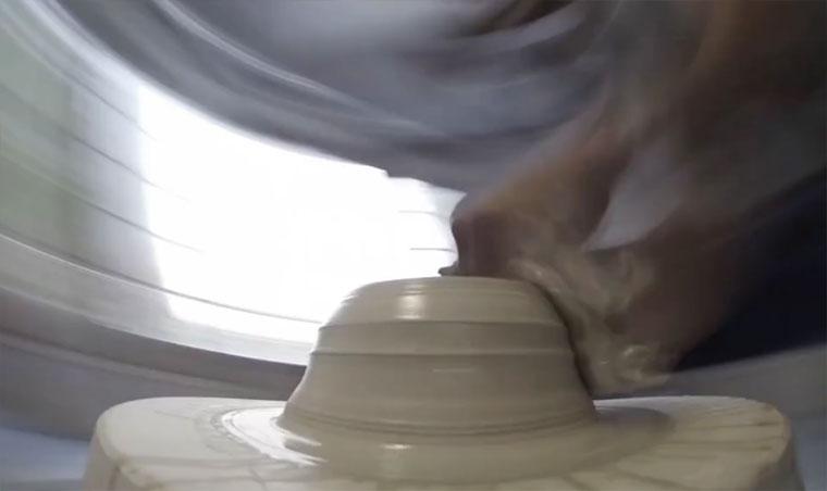 POV einer Töpferscheibe