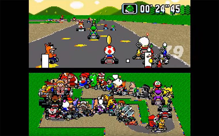 Wenn 101 Leute gleichzeitig Mario Kart spielen