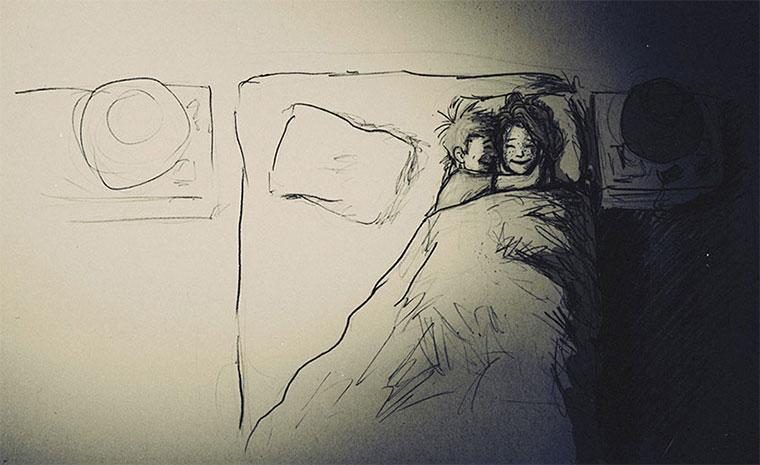 Mann zeichnet 1 Jahr jeden Tag seine Frau