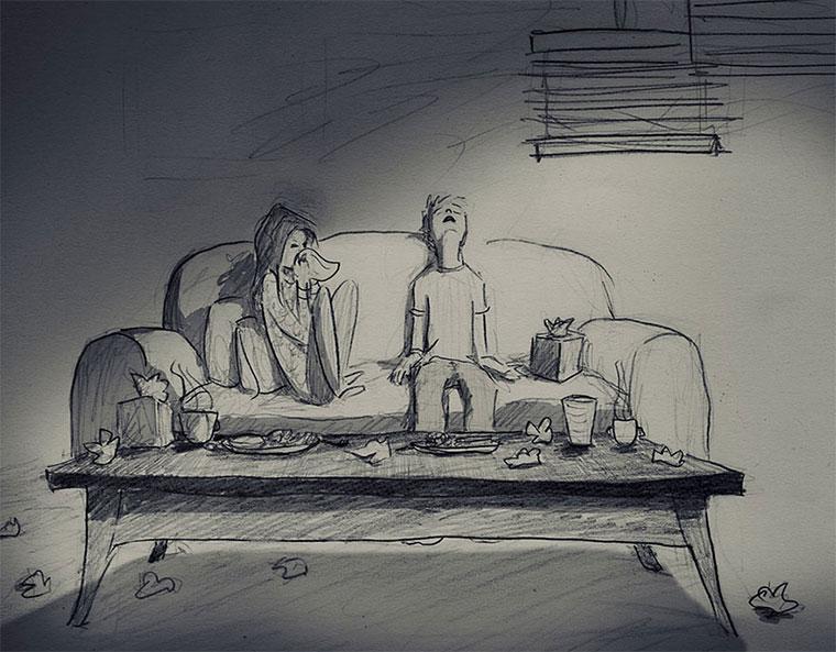 Mann zeichnet 1 Jahr jeden Tag seine Frau 365-drawings-of-love_05