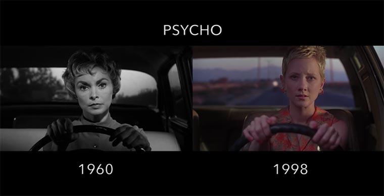 Filmszenen von Neuauflagen im Vergleich zum Original