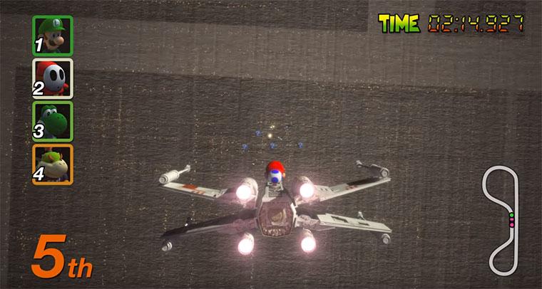 Mario Kart trifft Star Wars