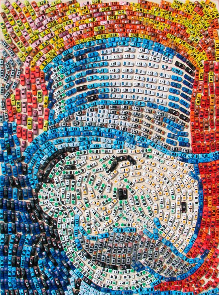 Mosaike aus Spielzeug-Autos Toy-Car-Series_02