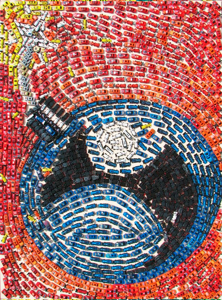 Mosaike aus Spielzeug-Autos Toy-Car-Series_03