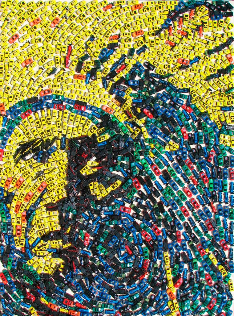 Mosaike aus Spielzeug-Autos Toy-Car-Series_08