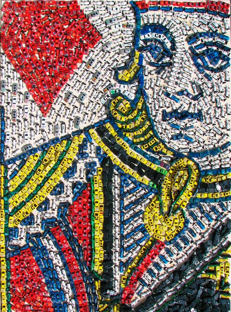 Mosaike aus Spielzeug-Autos Toy-Car-Series_09