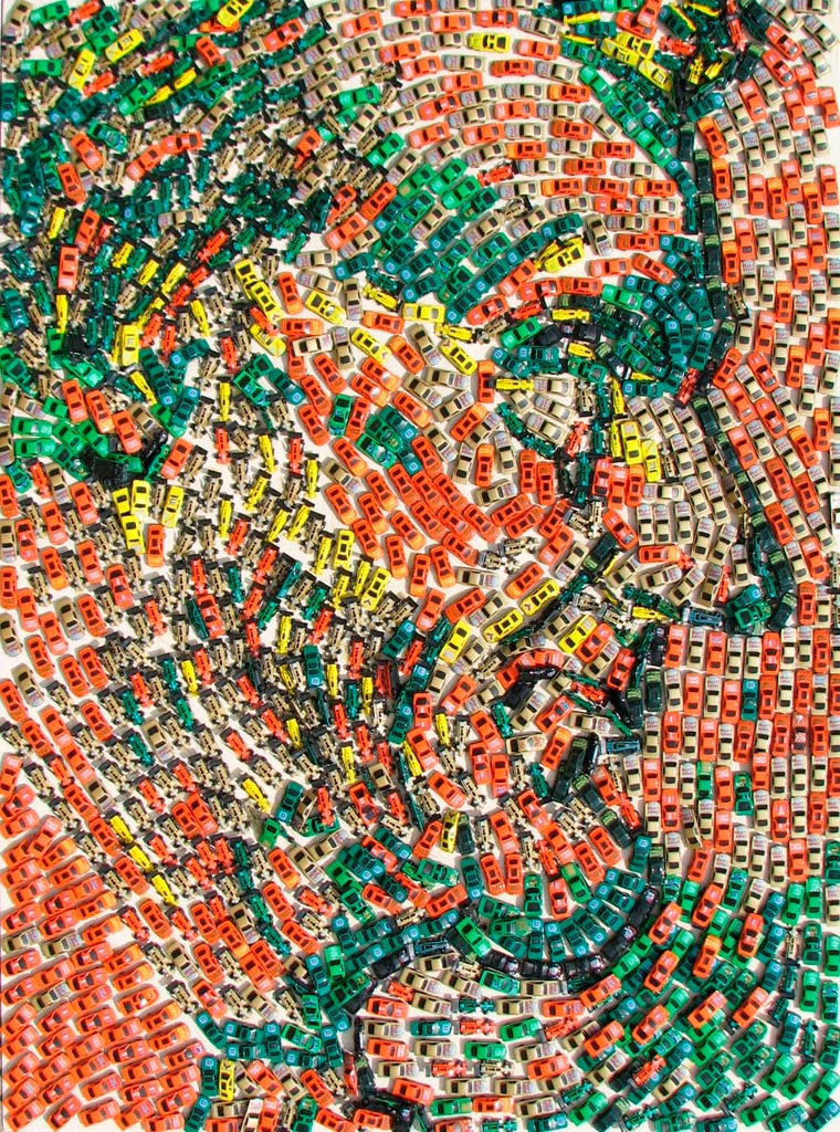 Mosaike aus Spielzeug-Autos Toy-Car-Series_10