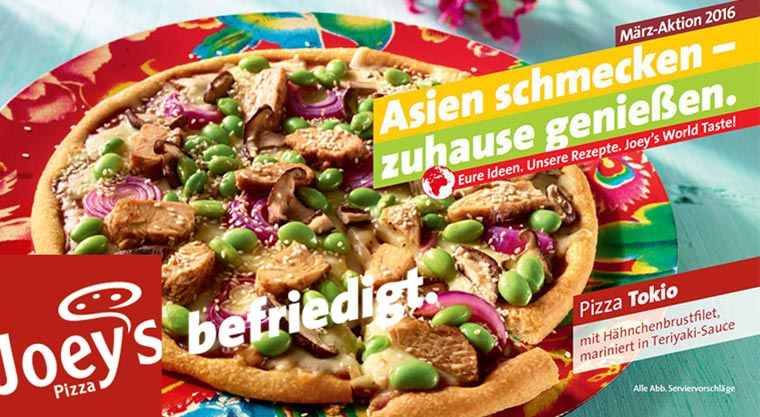 Kundenideen werden zu Joey's Aktions-Pizzen joeys-maerzaktion