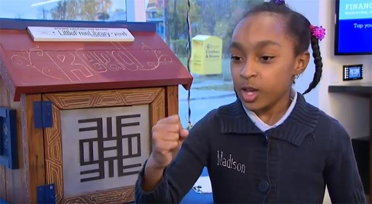 Sensationell: 8-Jährige schwärmt für Bücher madison-loves-books