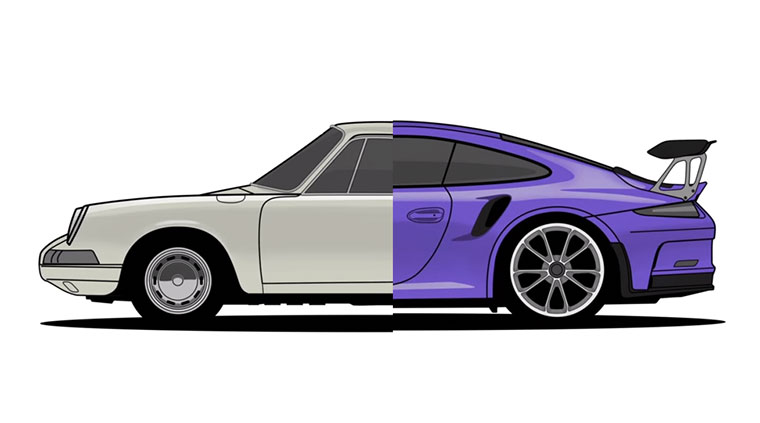 Evolution des Porsche 911 porsche-911-evolution
