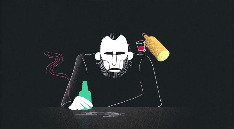 Bukowskis animiertes Bier