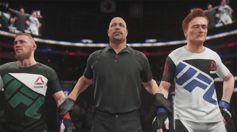 Conan spielt UFC-Spiel gegen UFC-Fighter Conan-Clueless-Gamer-UFC2