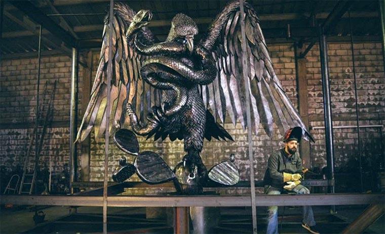 Metallskulpturen von David Madero David-Madero_01