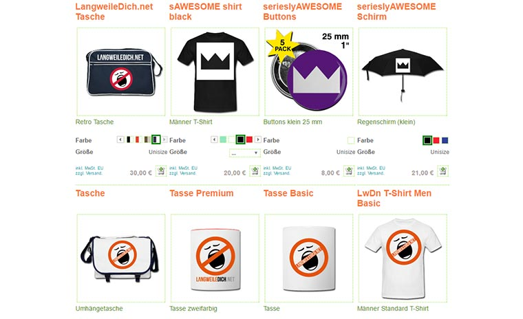 Merch ohne Risiko - Spreadshirt im Test LwDn-Spreadshirt-Shop_01