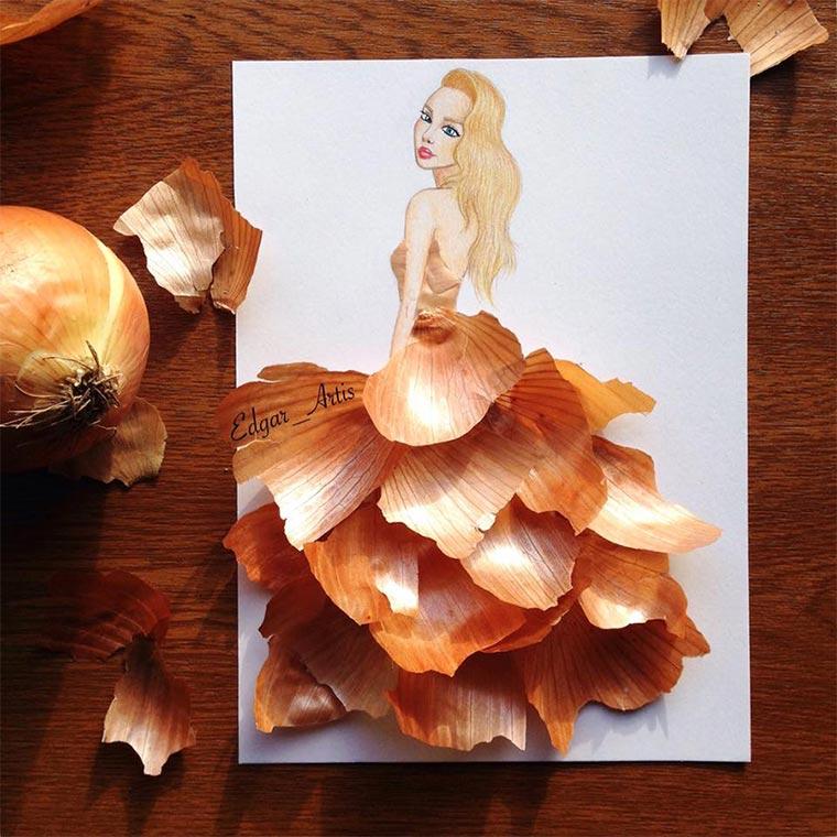 Kleider aus Pommes, Zahnpasta & Co. food-dresses_edgar-artis_02