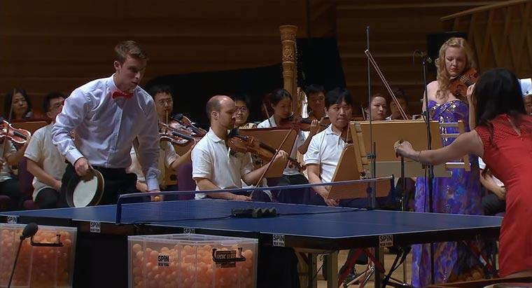 Tischtennisplatte als Orchester-Instrument ping-pong-orchestra