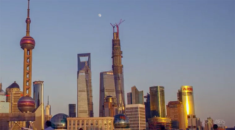 Timelapse: Bau des Shanghai Towers shanghai-tower