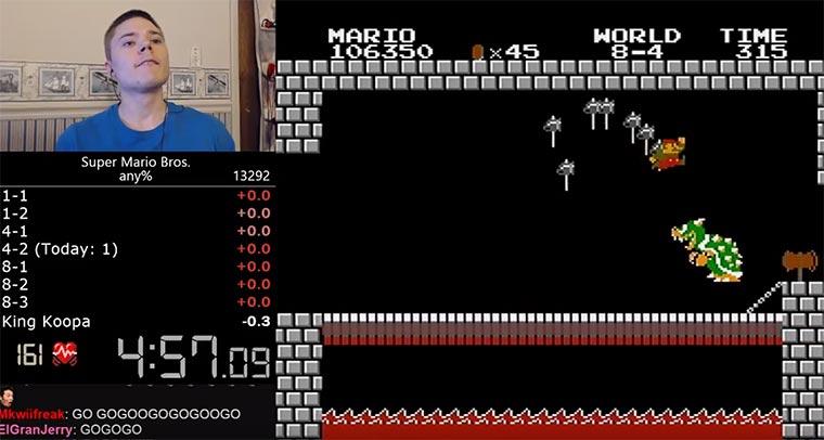 Neuer Weltrekord im Super Mario-Zocken Super-Mario-Bros-Rekord
