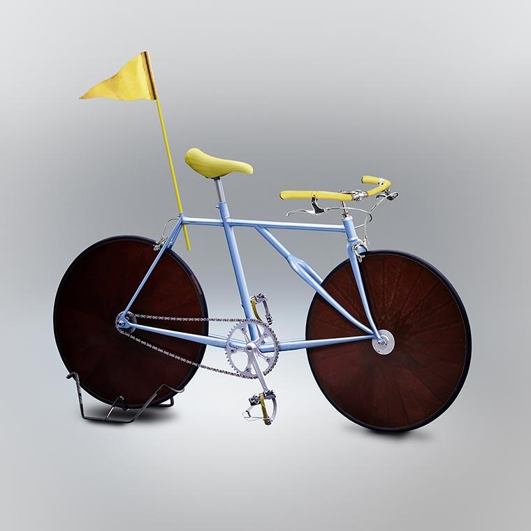Designer setzt gezeichnete Fahrräder um Velocipedia_13