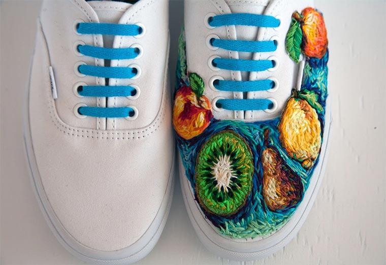 Bestickte Tennisschläger und Schuhe Danielle-Clough_04