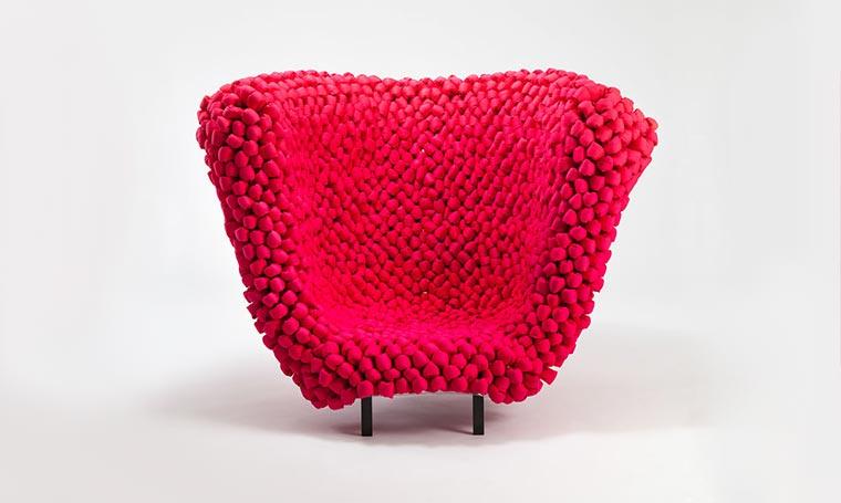 Gehäkelter Riesenmaschen-Sessel