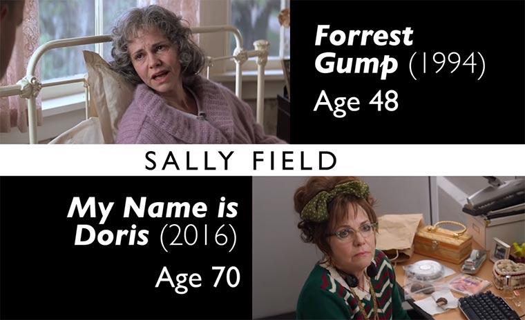 Auf Alt geschminkte Schauspieler vs. wenn sie wirklich alt sind