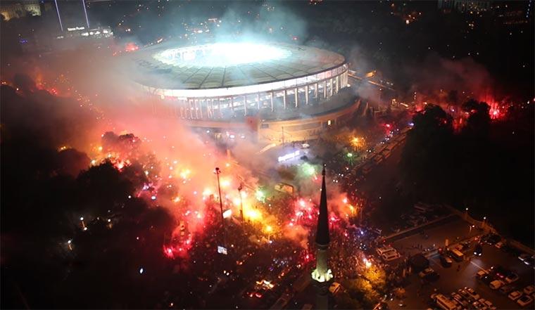 Wie Istanbul Beşiktaş' Meistertitel feiert besiktas-meisterfeier