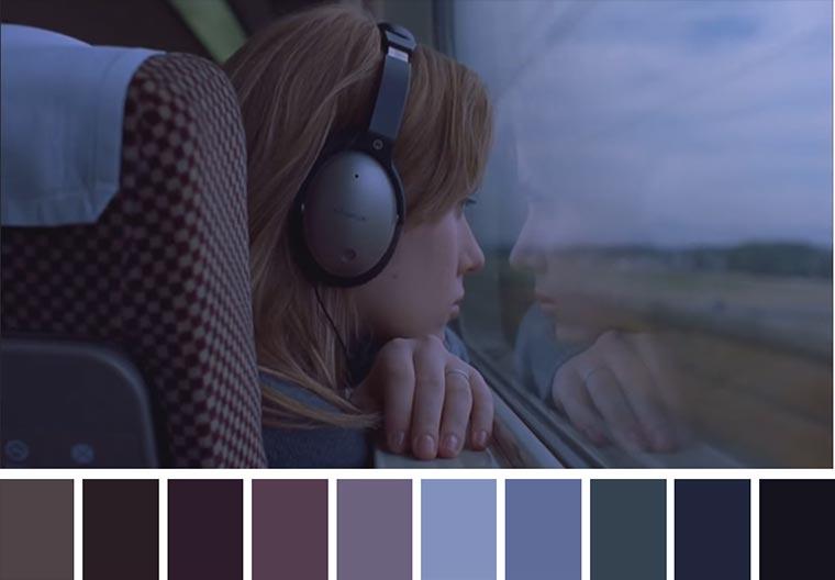 Farbpaletten von Kinofilmen