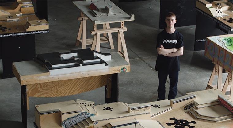 Portrait eines Fingerboarding-Pros fingerboarding-pro