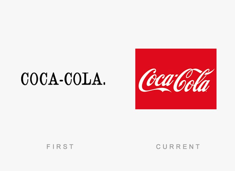 Markenlogos: Erste vs. Aktuelle logos-then-and-now_10