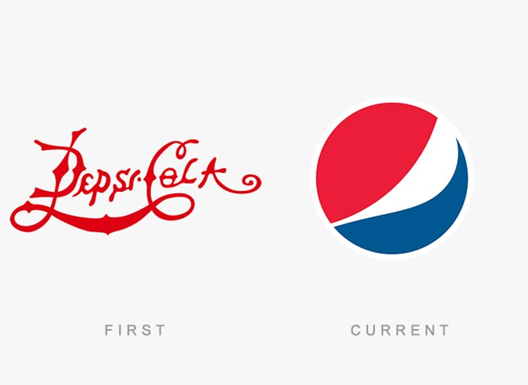 Markenlogos: Erste vs. Aktuelle logos-then-and-now_16