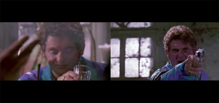 Erster und letzter Frame von Tarantinos Figuren
