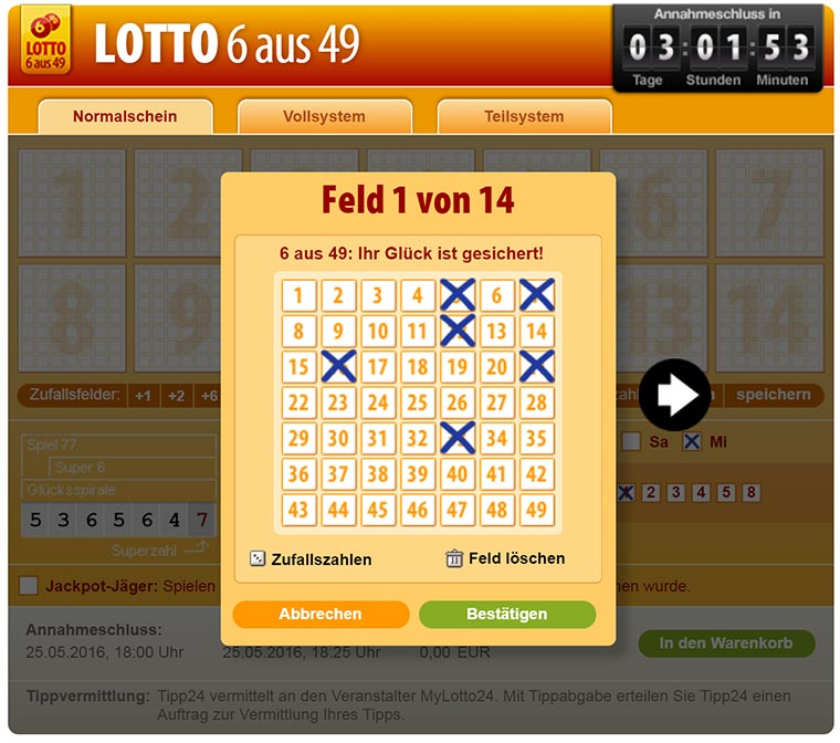 Maik spielt Online-Lotto #2 tipp24-2_01