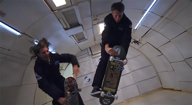 Skateboard-Tricks in der Schwerelosigkeit tony-hawk-zero-g
