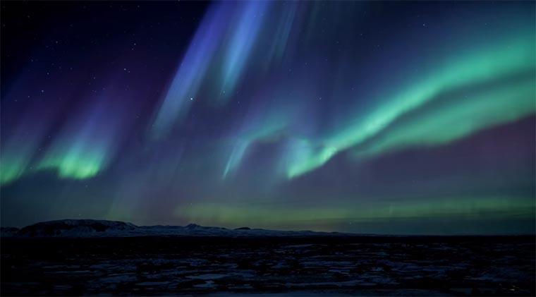 Schau dir die Polarlichter in Island an! LGOLEDTV-Aurora-Island_01