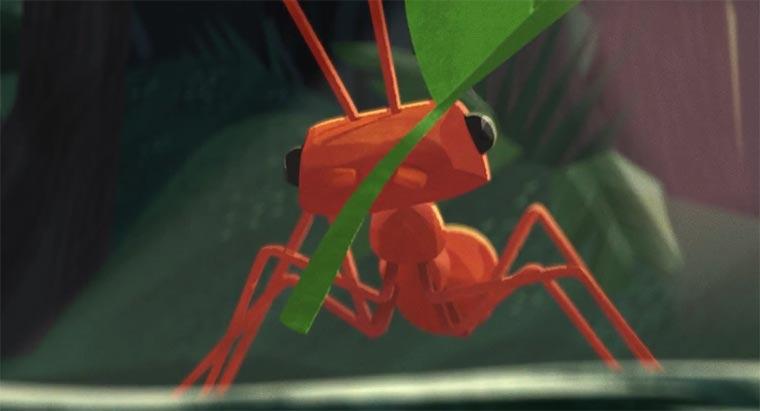 Die Erkundungsreise einer Ameise The-Leafcutter
