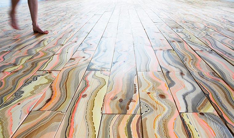 Wunderschöner bunter Marmorboden