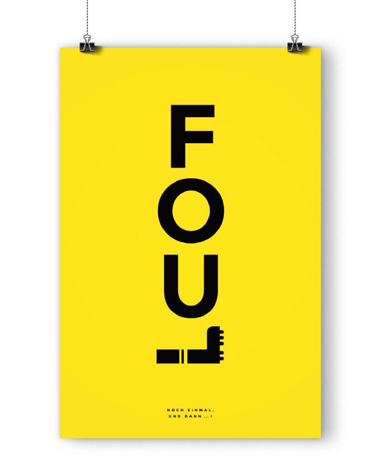 Typografische Fußballposter fanliebe_01