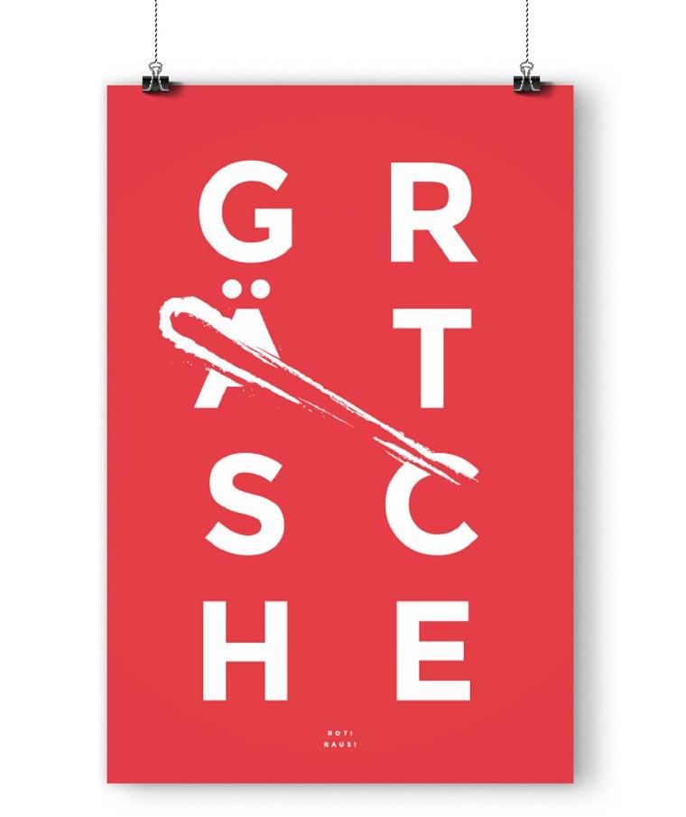 Typografische Fußballposter fanliebe_02