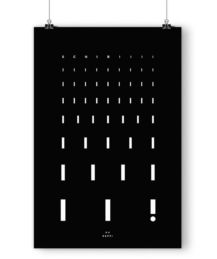 Typografische Fußballposter fanliebe_03