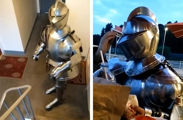 Ein ganz normaler Tag in Ritterrüstung