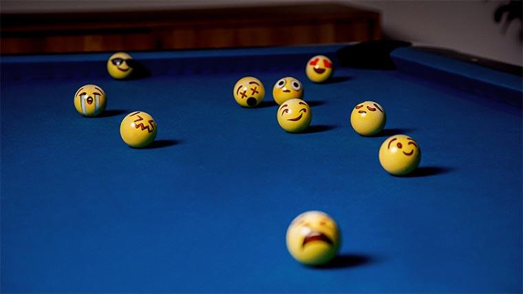 PoolMoji ist Billard mit Smileys