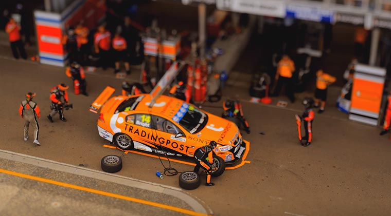 Tilt-Shift vom V8 Supercar-Rennen sydney-500-v8-supercars-tilt-shift