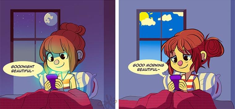 Comics einer Fernbeziehung